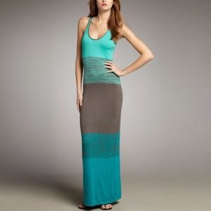 Trina Turk Bahama Mama Colorblock Maxi Tank Dress